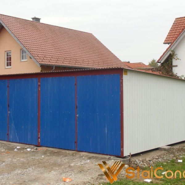 Mobilgarázs 6x5 hátrafele lejtő tető