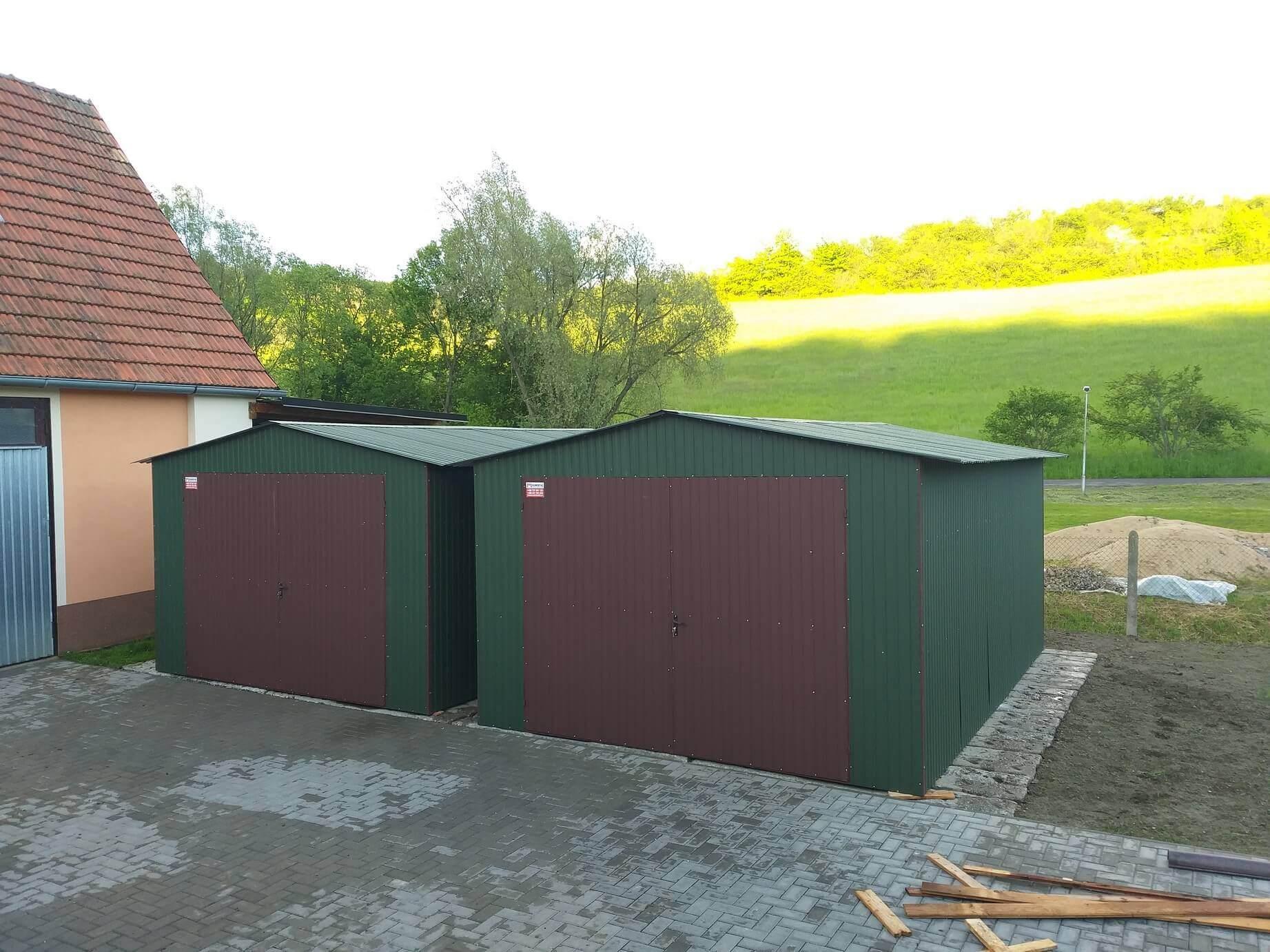 Plechová garáž 4×6 sedlová strecha BTX 6020