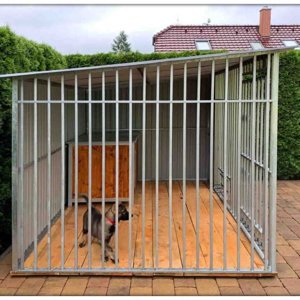 Kutyakennelek magasított odalakkal 3x2m