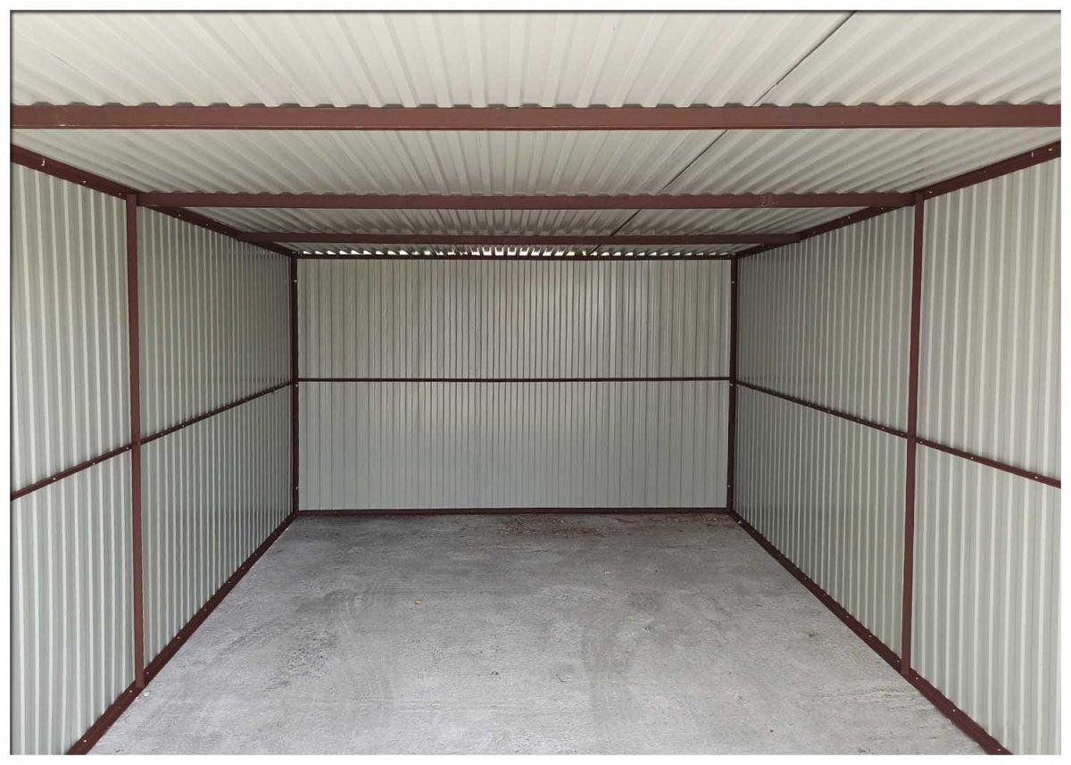Két beállós garázs 3x5 m, hátra lejtő