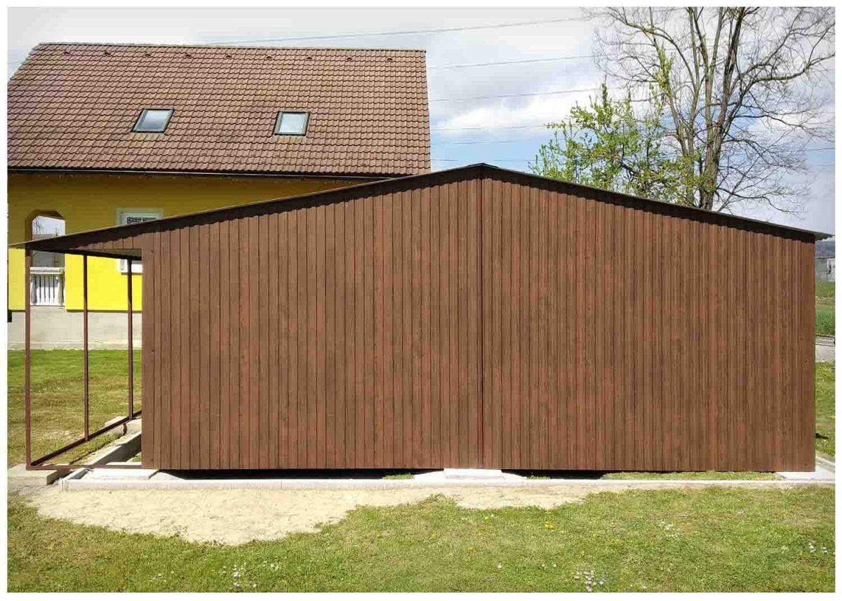 6x5m garázs 1 m-es előtetővel