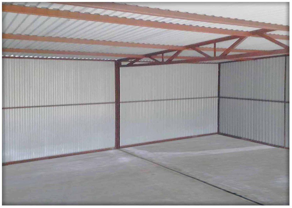 Dupla mobilgarázs 6x5 méretben, hátra lejtő tetővel, grafit színben